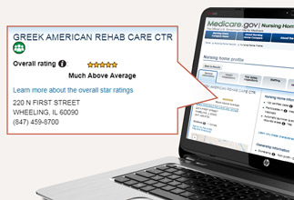Greek American Rehabilitation and Care Centre five star rating