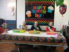 Three Centenarians, Katherine D, Agnes E and Diamanto celebrate birthdays