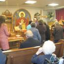 Residents receiving Holy Communion