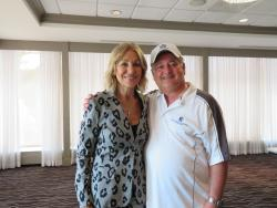 Eleni Bousis, Chairman of the Board and Medical Director, Dr. Nicholas Papanos, Co-Chairman of the GARCC Golf Outing